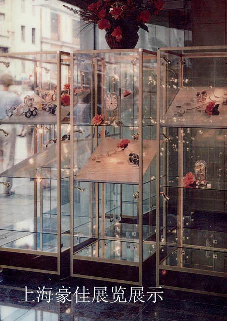 雅致B型展柜  B型工艺品展示柜  工艺品旋转展示柜