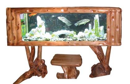 茶几鱼缸结构图