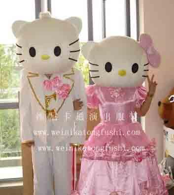 卡通人物服装 卡通人偶服装kt猫婚庆版2