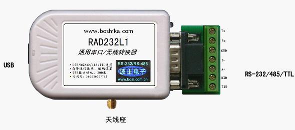 rad232l1 通用串口/无线转换器(usb/rs232/485/ttl)