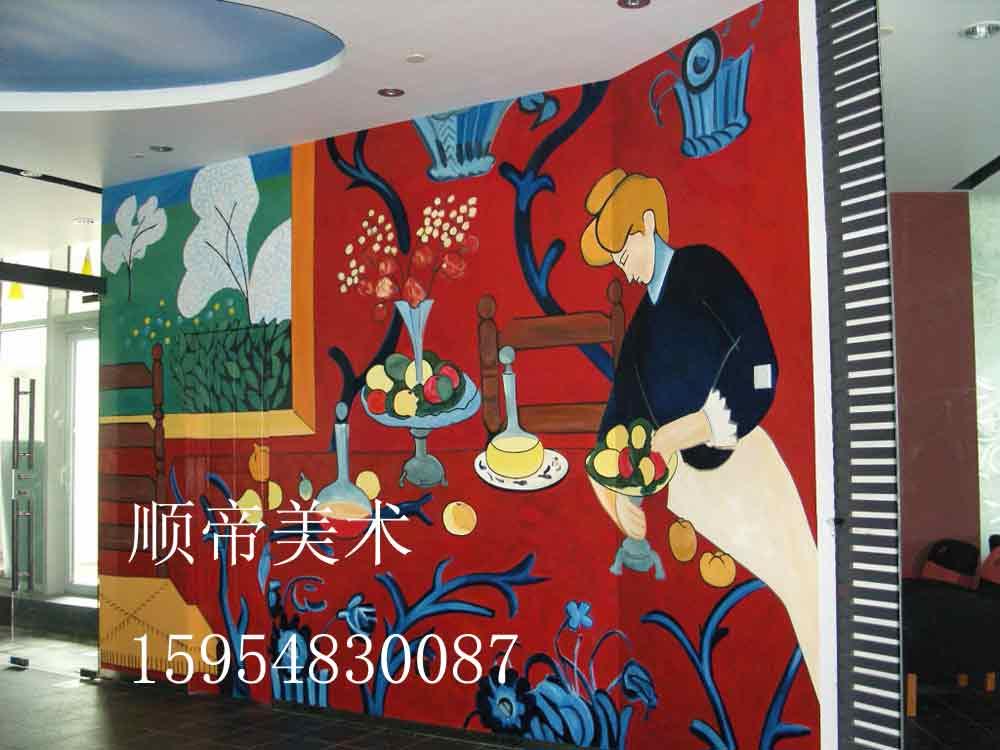 专业手绘各种咖啡厅,酒吧,家庭壁画