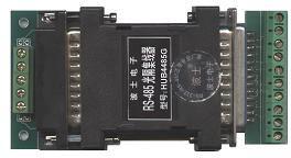 HUB4485G 1路RS485拖4口RS485光隔集线器