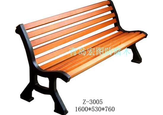 公园椅子高清大图,本图片由青岛市宏图防腐木景观工程有限公司提供.