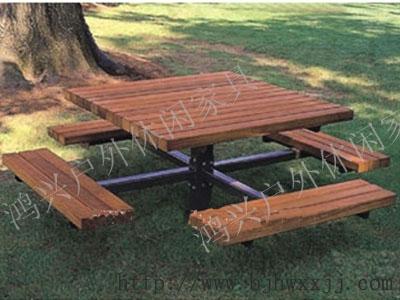 公园桌椅手绘效果图