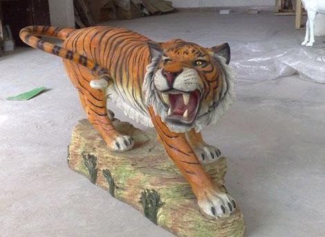 仿真动物模型,老虎动物模型,大型动物模型,玻璃钢动物