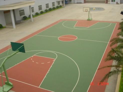 篮球场塑胶地板\/篮球场标准尺寸\/篮球场塑胶\/塑