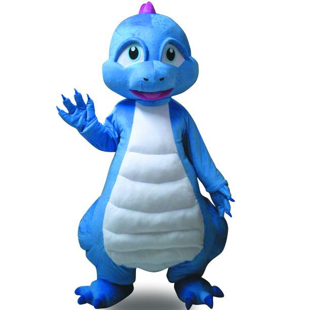 蓝恐龙卡通人偶卡通服装行走人偶恐龙扮演服演出服舞台道具服