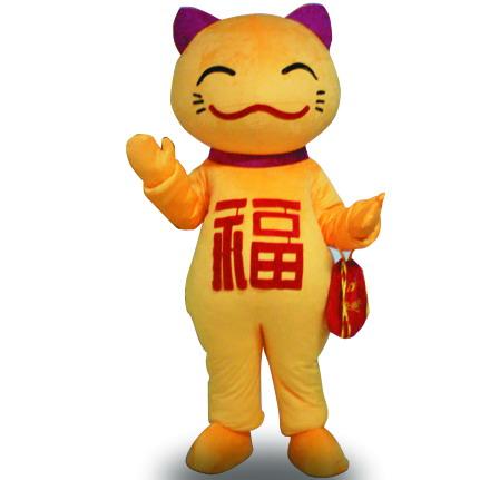 招财猫卡通人偶卡通服装佛山卡通人偶推广服装