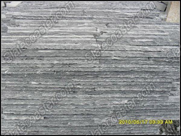供应灰色板岩流水板石材流水板流水板供应商; 板岩文化石黑色流水板