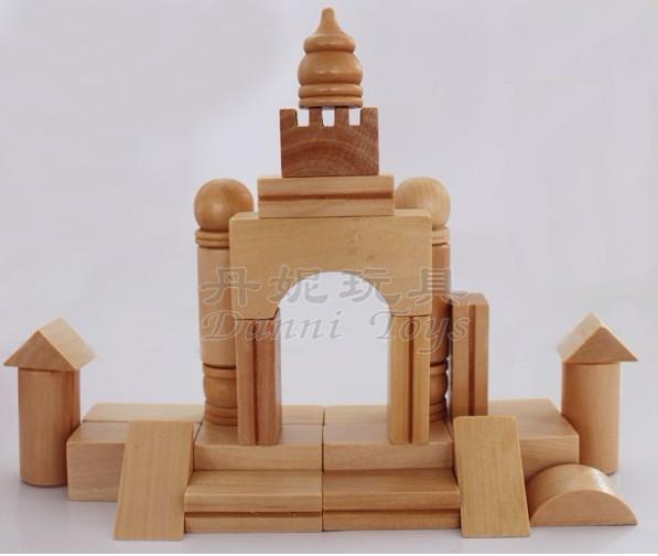 丹妮木制玩具diy系列桶装积木