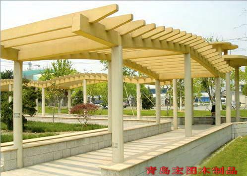 花架长廊高清大图,本图片由青岛市鹏程防腐木景观工程有限公司提供.