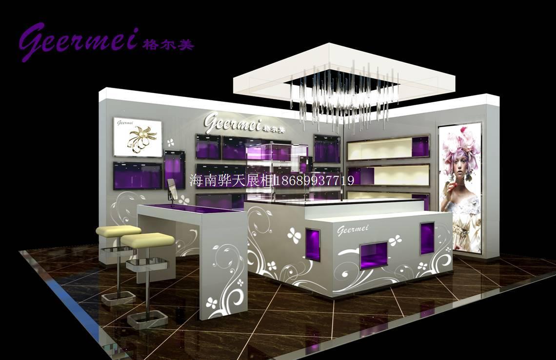 [供应]海南骅天化妆品展示柜台化妆品柜海南化妆品展柜厂家设计制作