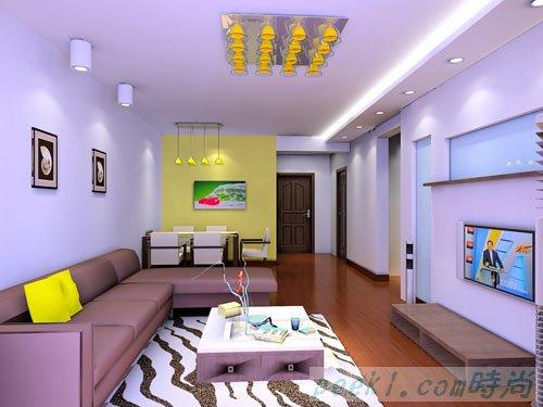 客厅刷漆颜色效果图图