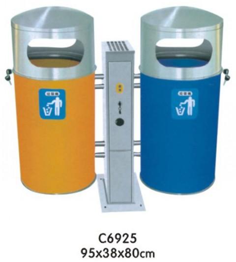 供应双桶垃圾桶,室外垃圾桶