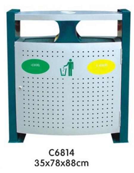 1.材质、工艺:桶身金属部分采用1.2mm镀锌板制造,镀锌板有着比钢板更具防腐防锈的优质性能,比普通材质的垃圾桶能增加2-3年的使用寿命。外喷专用室外塑粉静电喷塑,最大限度的延长了垃圾桶的使用寿命,使垃圾桶色彩光鲜亮丽,色彩持久,抗紫外线能力强!镀锌板使用倡导者第一家!最早使用镀锌板代替冷轧板的制造商!! 2.
