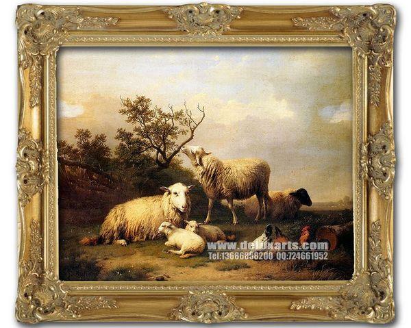 古典动物油画,装饰画,家居油画
