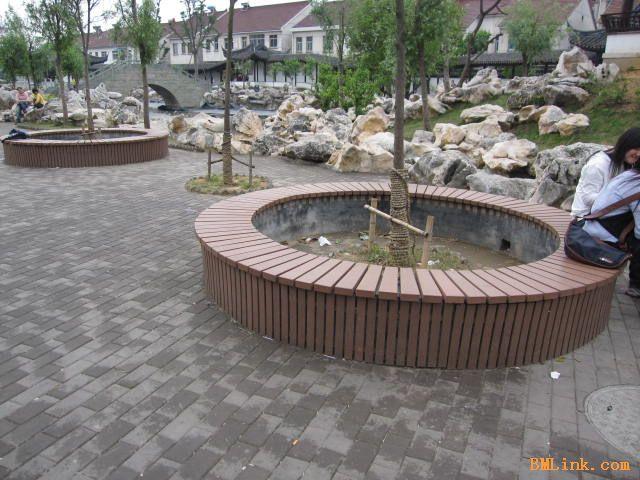 塑木树池高清大图