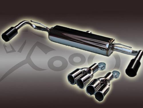 供应宝马新款x3改装尾段四出排气管高清图片 高清大图