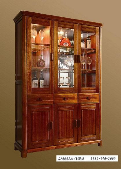 [供应]西安实木家具|海棠木家具系列三门酒柜