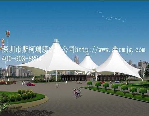 棚膜结构厂家,广场景观膜结构设计厂家产品大图 深圳斯柯瑞膜结构