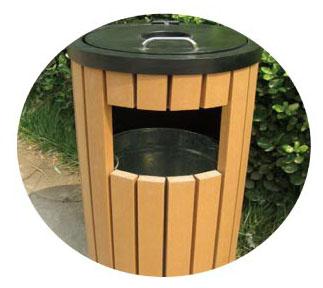 塑木垃圾桶价格规格 塑木垃圾桶生产厂家