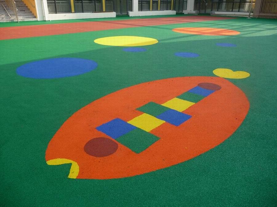 山东青岛 塑胶幼儿园 幼儿园塑胶操场 幼儿园塑胶跑道