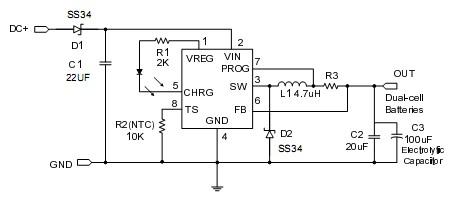 产品库 电子元器件 集成电路 >> dc-dc电源管理ic  ch6602是一款双节