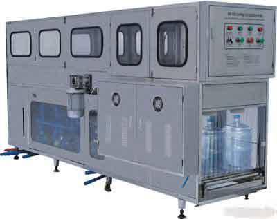 北京桶装水生产线 北京桶装水灌装设备高清图片