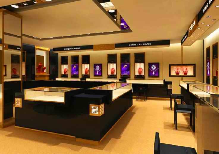 商场首饰珠宝展柜高清图片