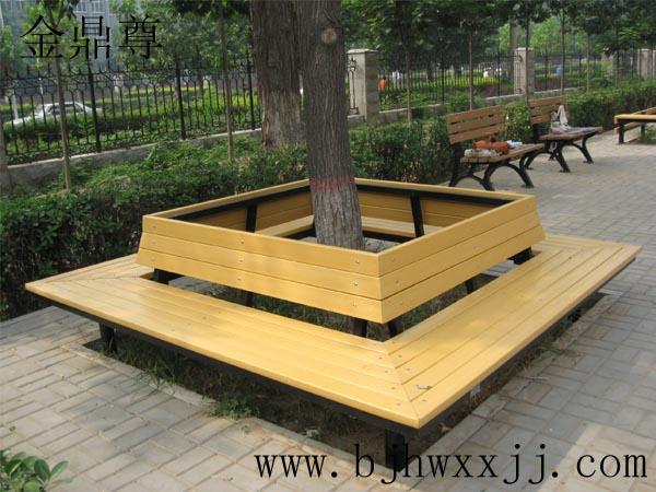 方形树圈椅,圆形围树椅,户外公共椅,香河公园椅