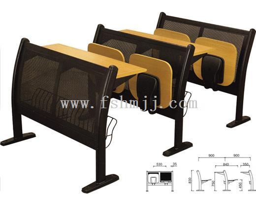 佛山广东鸿名阶梯家具厂生产铁艺五金课桌椅,家具制作教室图片