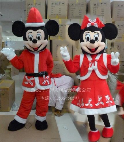 供应圣诞服装/卡通圣诞服装/圣诞米老鼠高清图片 高清