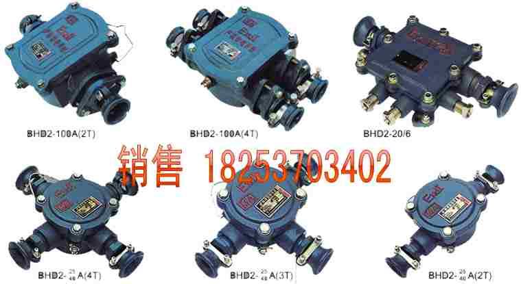 bhd2矿用低压电缆接线盒,防爆接线盒说明书,矿用三通接线盒,矿用低压
