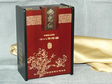 供应木质女儿红白酒包装盒
