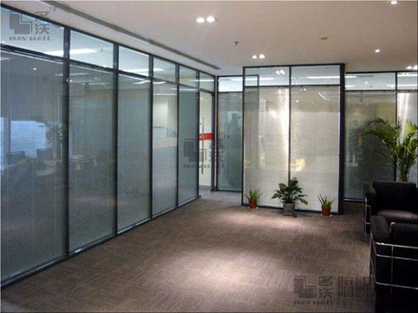 上海名沃隔断实业供应双玻电动百叶玻璃隔断