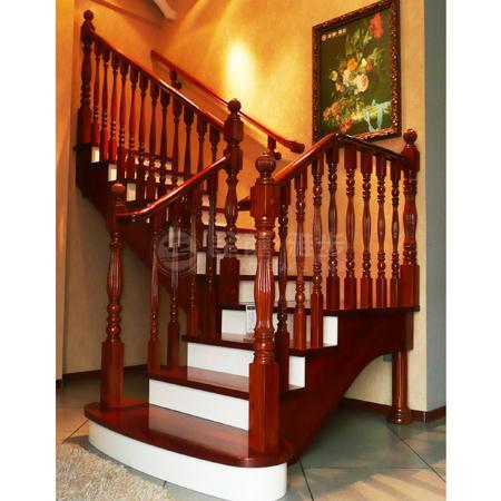 金龙雅步原木楼梯003高清图片