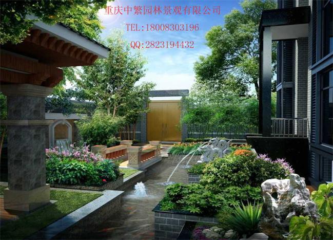 重庆别墅庭院私家园林屋顶花园设计中繁更专业产品大图