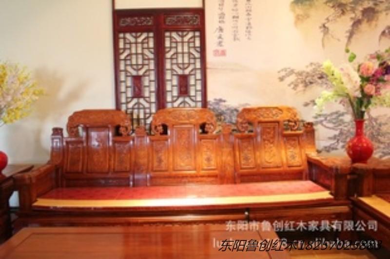 浙江东阳木雕家具大款象头沙发