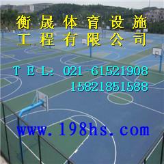 盐城大丰户外灯光塑胶网球场效果图 上海恒盛