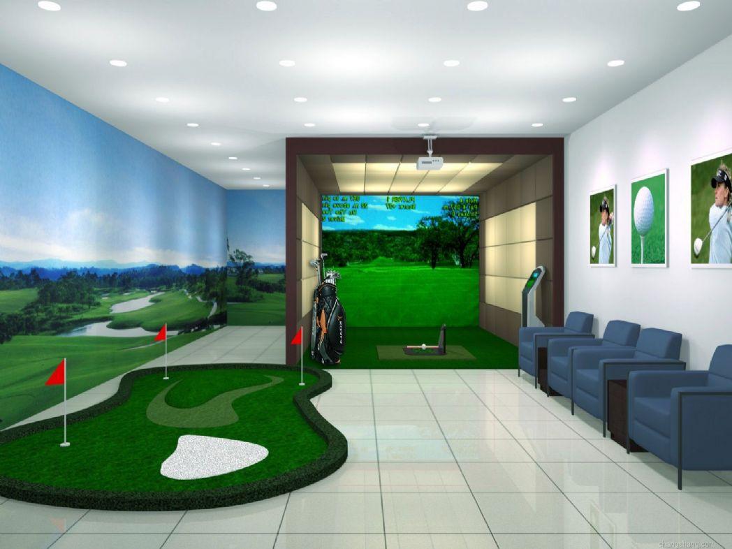 一、室内高尔夫模拟器系统采用计算机三维模拟技术和高速运动物体智能测量技术,通过室内的大屏幕模拟真实的高尔夫球飞行场景,让玩家仿佛身临其境,玩家使用真实的高尔夫球具击打真实的高尔夫球,室内高尔夫模拟系统将在模拟的高尔夫三维场景中即时显示高尔夫球在空中的飞行状态,感受逼真。 二、室内高尔夫模拟器功能特点 1、系统能允许多达6-8个顾客同时进行比赛,对顾客分别注册姓名并编号。 2、总共有93个不同的球场,每个球场有18个不同的球洞;打球前可以自由选择球洞和球场。 3、每次打球前,自动调整视角并显示击球处面向旗杆
