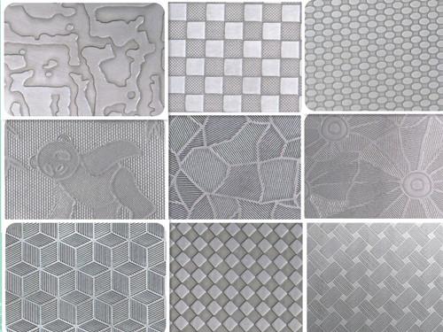 不锈钢压花板 彩色不锈钢板 压纹板价格   花纹板材:花纹钢板也称网纹