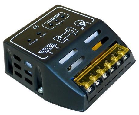 控制器,太阳能板,蓄电池,负载的额定电压应相同,都是6v或者都是12v.