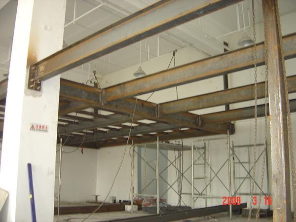 北京厂房制作隔层 底商商铺二层钢结构搭建68606282高清图片 高清大图