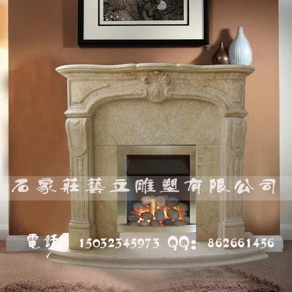 大理石雕花壁炉