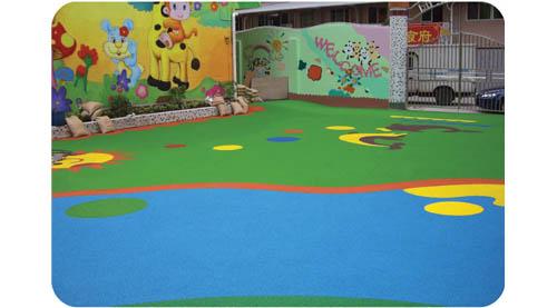 幼儿园塑胶地板 epdm场地产品大图