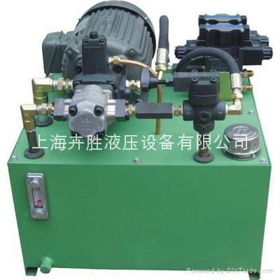 液压站是由液压专用电机,泵装置,集成块或阀组合,油箱,电气盒组合而成图片