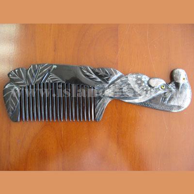 海南工艺品 天然牛角梳子