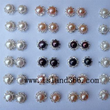 海南工艺品 天然珍珠耳环