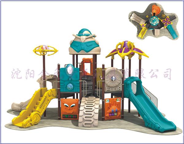 兒童森林動物滑梯