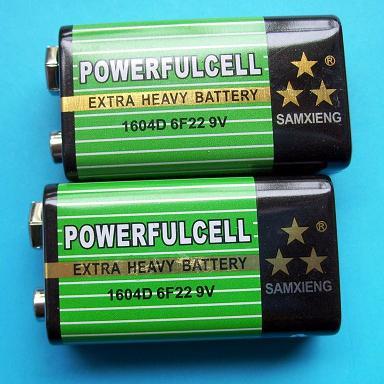 产品库 >>6f22 9v/9号电池汽车防盗电池  专业生产纽扣电池;电池;锂锰图片